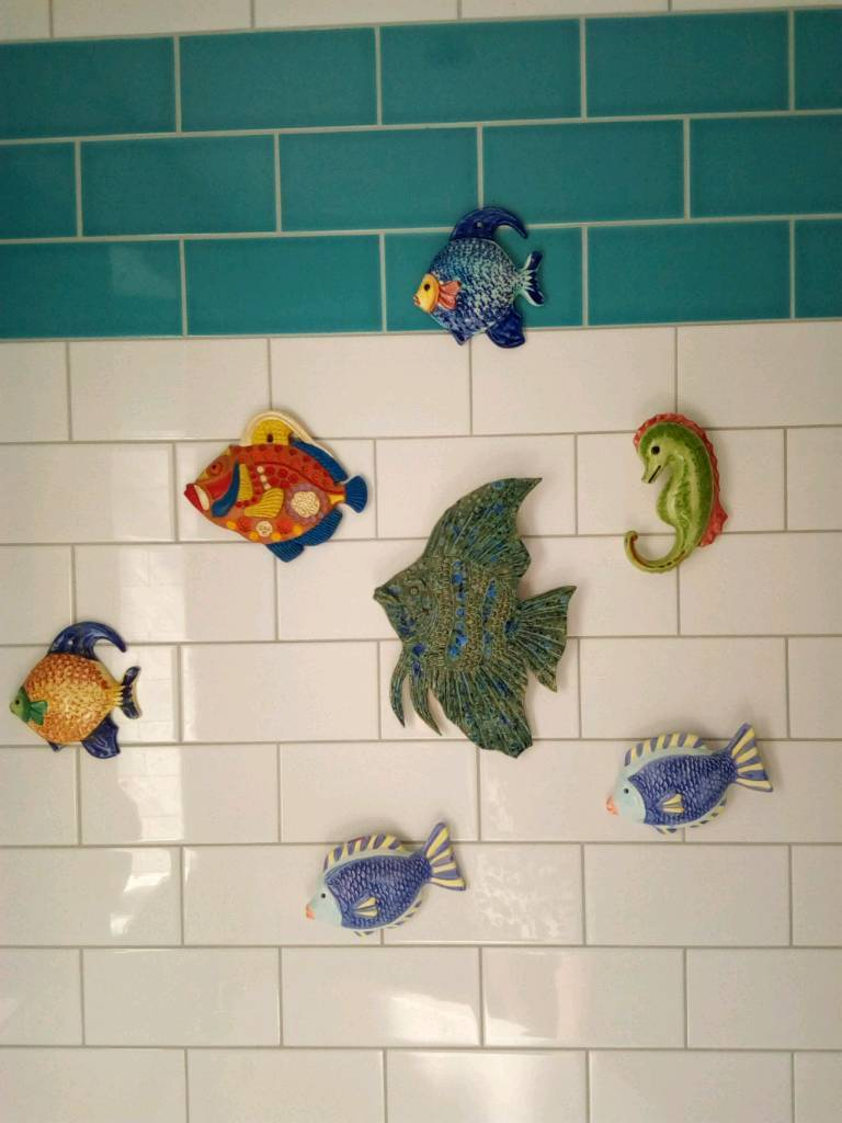 Fish Bathroom Ornaments Wall Decoration