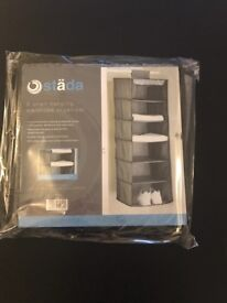 6 shelf hanging wardrobe organiser (Brand New)