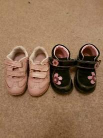 Clarks Trainers and Clarks Boots Girl 5.5 F