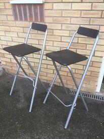 2 x Folding high stools