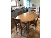 Dining table and four chairs for sale!