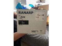 IKEA lights. RANARP Wall/clamp spotlight - White x 2 lights