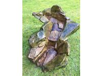 Rock Effect Tiered Pond Waterfall