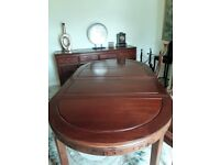 Chinese Hardwood Rosewood Table Seats up to 8 Persons