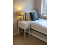 Heywood White Guestbed (2ft6 Small Single + 2ft6 Trundle Bed + Pocket Spring Mattresses) - reduced