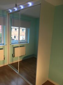 Mirror wardrobes with spotlights for sale