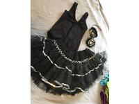 Black and silver dancing costume