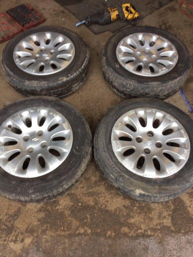 "Genuine Citroen Xsara Picasso set of 4 alloy wheels 15"""