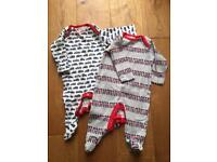 Boots Mini Club Sleepsuits Age 0-3 mths