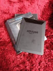 Kindle voyage ereader, black, excellent condition, one year old, tiny scratch on bottom of screen