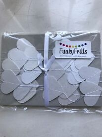 Heart confetti bunting, perfect for weddings or parties