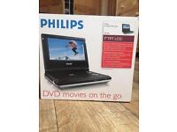 "Brand new Philips 7"" portable DVD player"