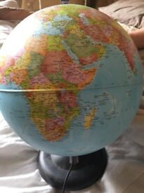 World globe lamp