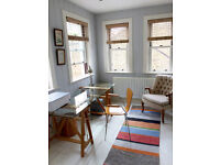 Bright Home Office for Freelancer Available 2 Days Per Week in Fulham