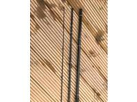 Three piece double handed fly rod
