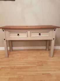 Console table with storage drawers