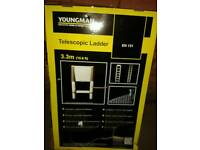 Telescopic ladder 3.3m (10.8ft) youngman. Brand new