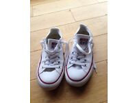Converse All Star trainer shoes - white - UK size 4.5
