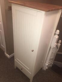 John Lewis white bedroom cupboard