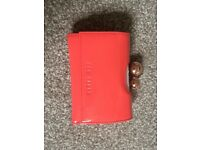 Ted Baker purse with crystal clip fastening coral
