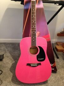 New Westfield guitar in pink