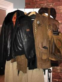 Collection of Men's vintage leather jackets