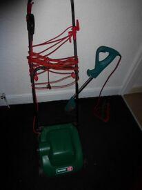 qualcat elipse320 lawnmower. bosch art 23g strimmer