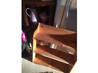Shabby chic style cupboard and pine shelf unit together