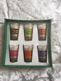 Brand new boxed handmade Moroccan glasses
