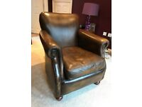Beautiful Leather Chair - Dark Brown - RRP £525 - Great Condition - Very Stylish