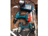 Makita drill and impact driver set