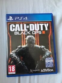 BLACK OPS III (3) PS4 - IMMACULATE CONDITION !