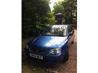 2002 Blue Hyundai Accent 1.3 gls 57,000 mls good runner & excellent car