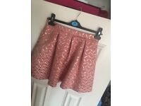 Pink and gold French connection skirt size 10