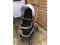 Mothercare Xpedior Pushchair Buggy Stroller Black