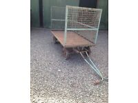 Hand Pulled Cargo Trolley/ Trailer x2
