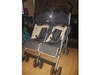 Double Maclaren pushchair