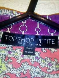 Topshop petite size 10 boho patchwork dress
