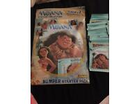 Moana sticker book and 41 packs stickers