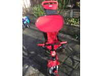 Red Smart Trike 4 in 1