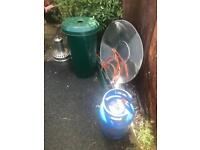 Gas patio heater as new