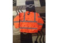 Hi-Viz jacket. Orange. XL.