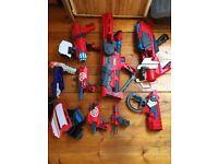 8 Nerf guns & bullet belt