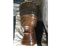 Bougarabou Drum. 11.5 inch diameter cow hide head