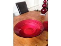 large glass decorative bowl