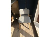 Comfy padded lounge-bar chair
