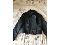 Carven silk black jacket for spring