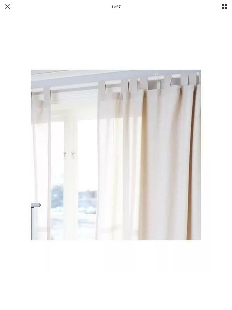 2 X Pairs Ikea Lenda Curtains