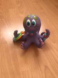Teething/bath octopus