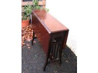 Edwardian occasional mahogany side table, antique vintage Sutherland drop leaf coffee tea table
